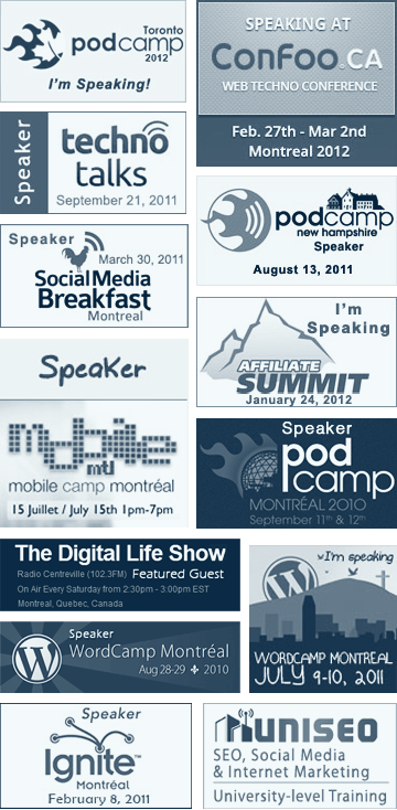 Recent Speaking Engagement Logos